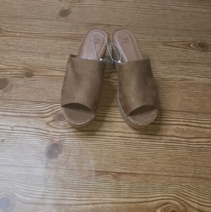 A New Day Lucy Cork Wedges Size 7
